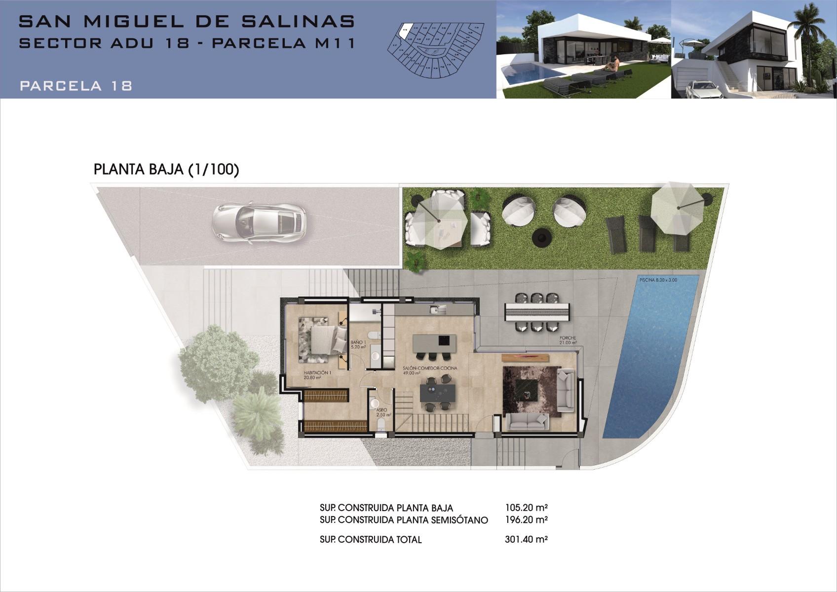 NC3942MP : Вилла в Сан-Мигель-де-Салинас